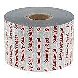TE-Office Rotolo da 50 metri lineari di sicurezza con effetto VOID, 40 mm, etichette di sicurezza, adesivo di sicurezza rosso