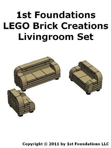 1st Foundations LEGO Brick Creations - Livingroom Set (Home Furnishings Book 2)