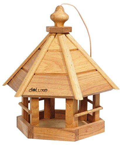 Luxus-Vogelhaus 46038e Petite Maison pour Oiseaux Komfort très résistante en chêne et de Forme hexagonale avec Cordon en Cuir -33 x 29 x 36 cm