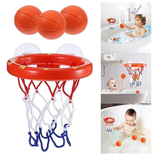 YunB お風呂のおもちゃ、楽しいバスルームのバスケットボールスタンド、子供用の入浴用ミニバスケットボールのおもちゃセット、赤ちゃんの入浴用の心地よいクラシックギフトのおもちゃ、親子のインタラクティブなおもちゃ