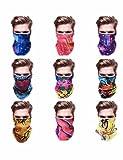 SHINA masque de coiffure foulards de tube extérieur magique écharpe de classe abstraite extérieur Banda/pack of 9
