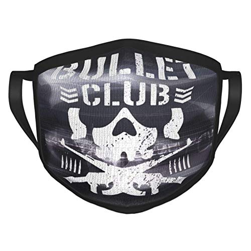SheriBattche Unisex Balaclava Bullet Club Face Mask Bandana Adjustable Earloop Mouth Face Cover for Adultwith 2 Filter Medium