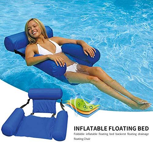 Ourine Sommer aufblasbare klappbare schwimmende Reihe Stuhl Strand Schwimmbad Wassersport Hängematte