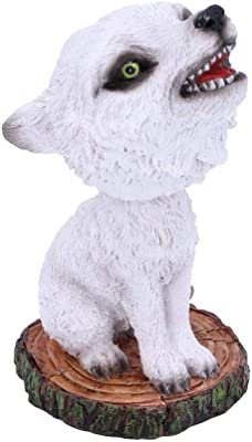 Nemesis Now Cub White Winter Wolf Bobble Head Figurine, Polyresin, One Size