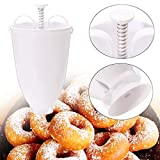 Shirazawa Donut Mould Easy Fast Portable Donut Maker Manual Waffle Dispenser Doughnut Machine Waffle Plastic Lightweight Deep Fry