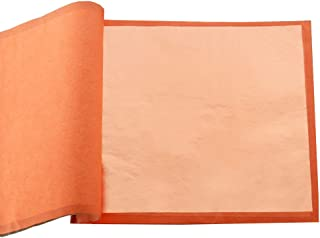 """Genuine Pure Copper Foil Papers - VGSEBA Imitation Gold Foil Leaf 0 Color Multipurpose for Handcrafts Decorations 6.3"""", 10..."""