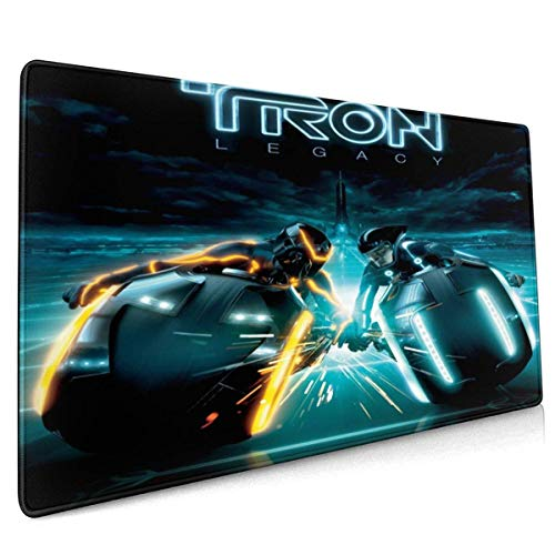 Anime Mouse Pad Daft Punk - Tron Legacy Role Playing£¬Stitched Edge, Non-Slip Rubber Large Gaming Mouse Pad 40 X 90 cm (15.8x35.5 Inches)