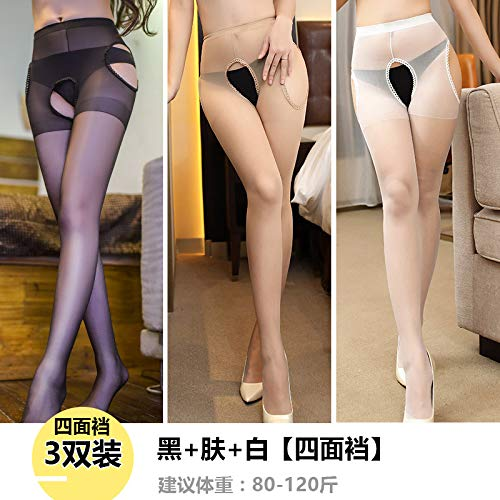 Sexy kousen Fun Transparant Gratis Bretels Tube Socks Panty Zwart Dunne sectie Anti-Hook Summer
