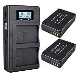 Batería Palo LP-E12 (Paquete de 1800 mAh) y Cargador Doble USB para Canon LP-E12 y Canon EOS M, EOS M2, EOS M10, EOS M100, EOS Rebel SL1, EOS 100D