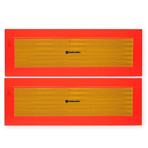 Heckwarntafel für Anhänger und Auflieger, selbstklebend, ECE 70.01, 565 mm x 195 mm, 2 Stück