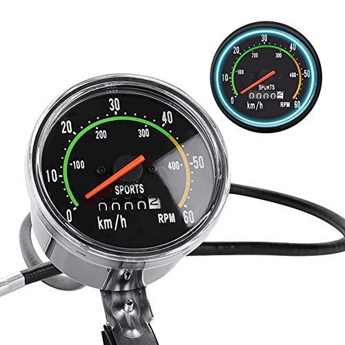 Acogedor Fahrradcomputer,Fahrrad Tacho Bike Kilometerzähler mit genaue Daten, allgemeinen mechanischen Tachometer für für 26/27.5/28/29-Zoll-Bikes oder Dreirad, Perfekt für Radreise
