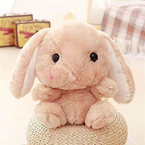 UMBRANDED Mochila para animales rellena, bolsa de peluche, peluche, conejo, conejo largo, para niñas y niños marrón S