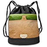 Archiba Sac à Dos à Cordon avec Poche Multifonctionnel Robuste Baseball Field Sac à Dos Sports Gym Épaule String Bags