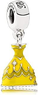 Disney Belle's Dress with Yellow Enamel Dangle Charm 791576enmx