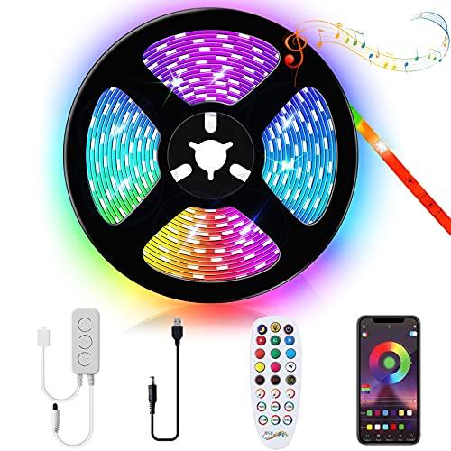 Kallrra LED TV Hintergrundbeleuchtung 4M, LED Beleuchtung USB LED Strip App Steuerung, RGB LED Lichtband mit Fernbedienung für 55-75 Zoll Fernseher, PC, Schlafzimmer, Schrank, Wohnwand, Playstation