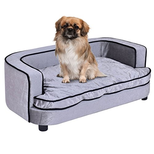 Giantex Pet Sofa Orthopedic Lounge Sofa Bed Puppy Cat Sleeping Home Comfortable Couch Pet Bed