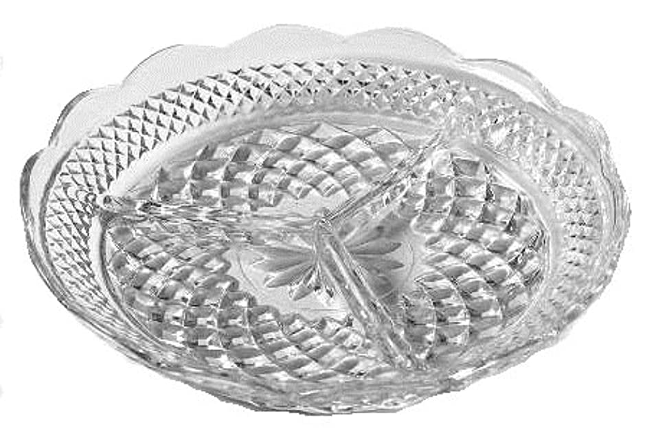 Anchor Hocking Wexford Clear Glass ( 3-Part Relish Dish )