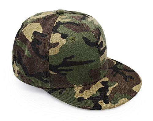 UltraKey Baseballkappen, Militär-Camouflage-Kappen, Schirmmützen, können für Outdoor-Aktivitäten wie Angeln, Camping und Jagd verwendet Werden , Verstellbare, Grüne-Flachen Rand