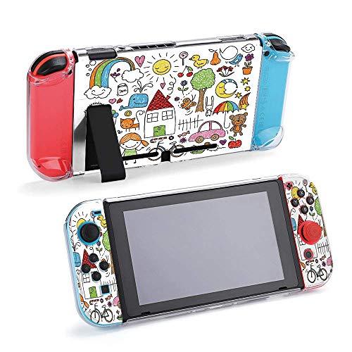 Colección de bonitos dibujos infantiles de funda protectora compatible con Nintendo Switch...