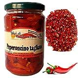 Peperoncini Piccanti Calabresi Tagliati sott'olio in vaso 290gr Peperoncino Piccante Originale Prodotti tipici Calabresi
