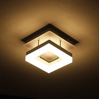 12W LED lamparas de techo salon modernas, plafon techo led cocina Para Salón Dormitorio Baño Hotel Pasillo, 3000K Blanco Cálido Square Moderna,Ø 20CM