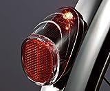 ソーラー充電のかしこいテールライト! パナソニック製自転車純正品 後ドロヨケ取付式ソーラー充電タイプ センサー内蔵で自動点滅・消灯 約8時間連続使用可能、停車後約1分間点滅継続 充電池交換がしやすい