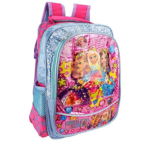 Mochila Escolar Infantil Feminina De Princesas E Fadas (3Princesas)