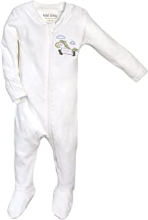 Organic Cotton Zippered Baby Footie with Gift Box - Horse
