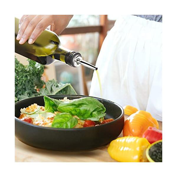 Aozita 17oz Glass Olive Oil Bottle - 500ml Green Oil & Vinegar Cruet with Pourers and Funnel - Olive Oil Carafe Decanter… 2 51Iv5mhkZIL