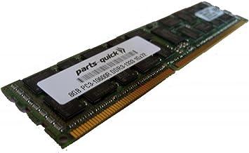 8GB Memory Upgrade for ASUS KG Server Board KGPE-D16 DDR3 1333MHz PC3-10600 ECC Registered Server DIMM (PARTS-QUICK Brand)
