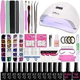 Your New Look Nail Art Tool - Set de esmalte de uñas con pegamento para lámpara de manicura, accesorios