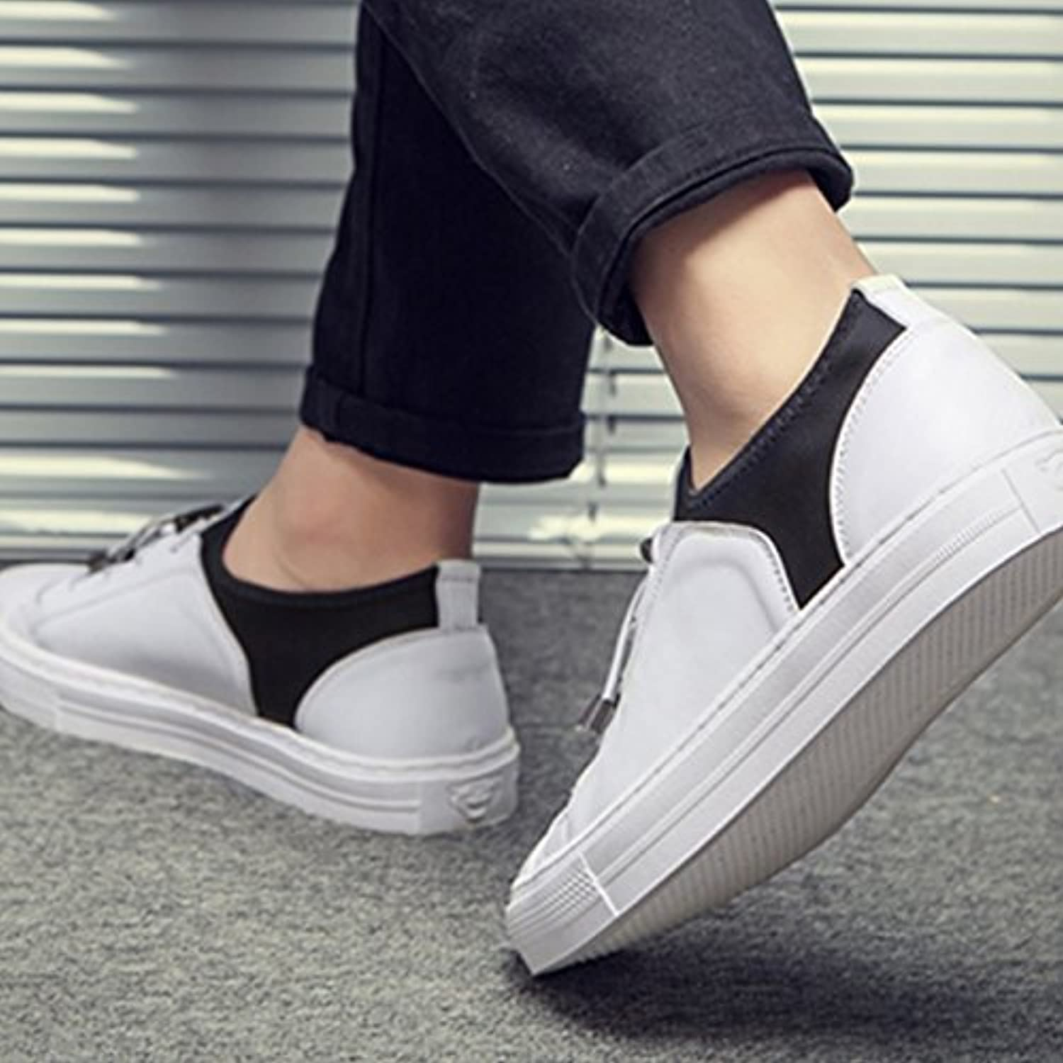 YIXINY 19191 Spring And Autumn New Korean Version Round Head Men's Sports Casual shoes (color   White, Size   EU39 UK6 CN39)