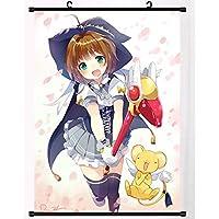 カードキャプターさくら日本のアニメポスター壁巻物ぶら下げ絵画アート絵画壁巻物ポスターギフト 50x75cm/19.7x29.5Inch