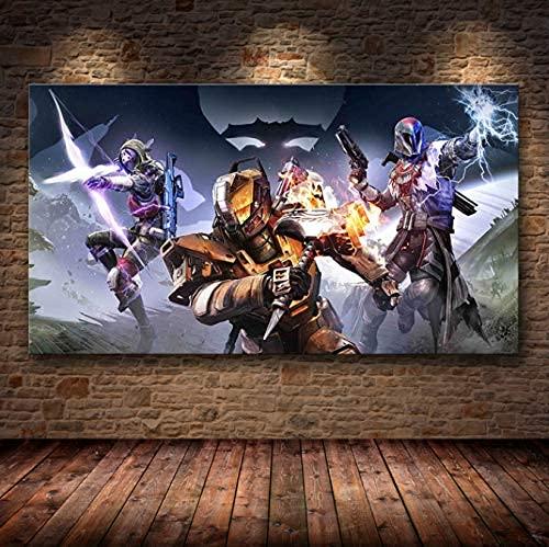 Destiny 2 Game Videos Wall Art Canvas Posters HD Picture Prints para La Decoración del Hogar De La Sala De Estar P 50X70Cm (Jn4988)