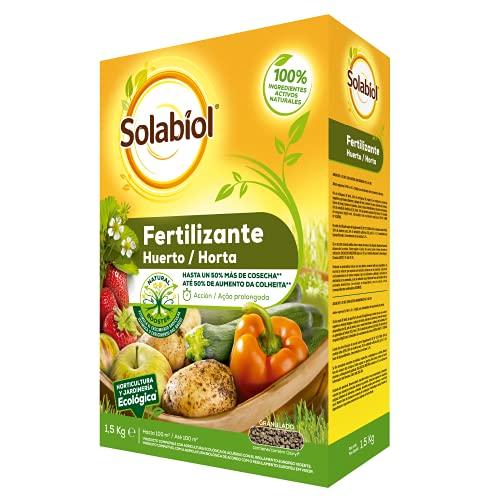 Abono para huerto, 100% orgánico con estimulador radicular para una mejora de la cosecha
