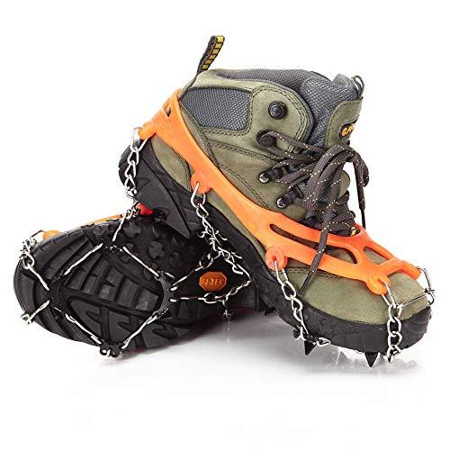 Ducomi Ramponi Sneeuwschoenen met 8 anti-slip tanden voor schoenen en laarzen – Ramponi met noppen voor winterlaarzen voor dames en heren, bergbeklimmen, wandelen, klimmen