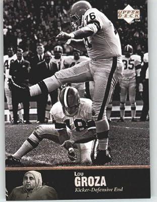 1997 Upper Deck Legends Football Card # 37 Lou Groza - Cleveland Browns - NFL Trading Card