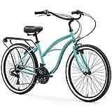 sixthreezero Around The Block Women's 21-Speed Beach Cruiser Bicycle, 26' Wheels, Teal Blue with...