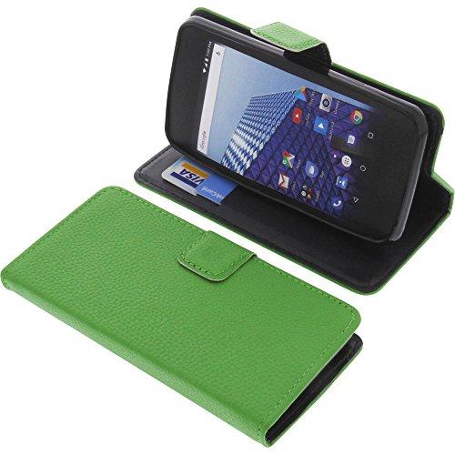 foto-kontor Tasche für Archos Access 45 4G Book Style grün Schutz Hülle Buch