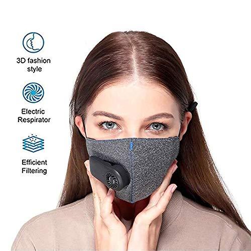 Intelligente Elektrischer Luftreiniger, Mundschutzfilter, Vierschichtige Gesundheitsschutz Anti-PM 2,5 Wieder Verwendbarer Gesichtsschutz, Wiederaufladbar Aktivkohle Respirator