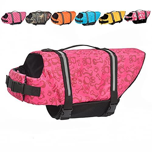 Doglay Dog Life Jacket, Dog Life Vest with Reflective Stripes, Adjustable Dog Lifesaver Pet Life Preserver with High Buoyancy Swimsuit for Small Medium and Large Dogs