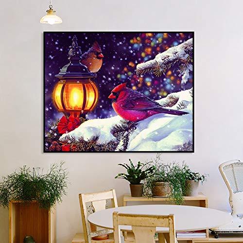 QAZEDC Digitale schilderij handgemaakte speelgoed puzzel DIY Olieverfgetallen Sneeuw Landschap Bloem Kleurplaten Canvas Foto Kalligrafie Muur Kunst Kits Hand Schilderen Woonkamer Decor