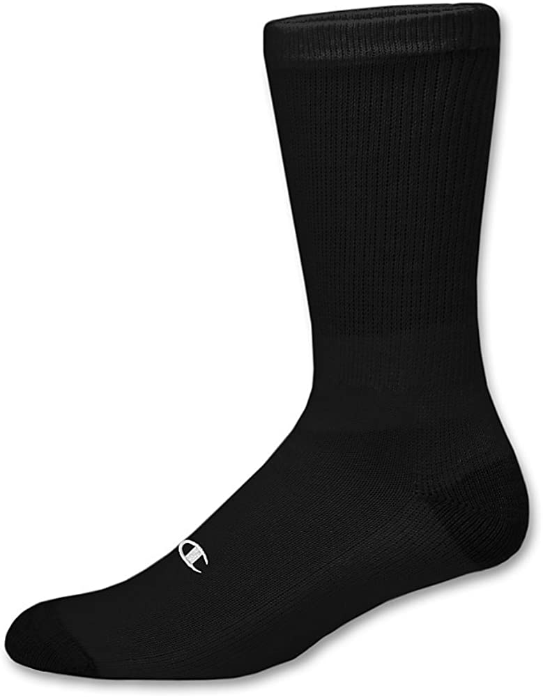Double Dry 6-Pair Pack Cotton-Rich Crew Socks