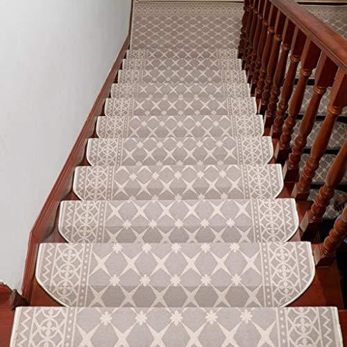 Alfombras de Escalera para Interiores Stair Treads Escalera de ratón, autoadhesivo de la banda de rodadura antideslizante Paso esteras de la alfombra, for el hogar Escalera decoración, 15 Pieza para N