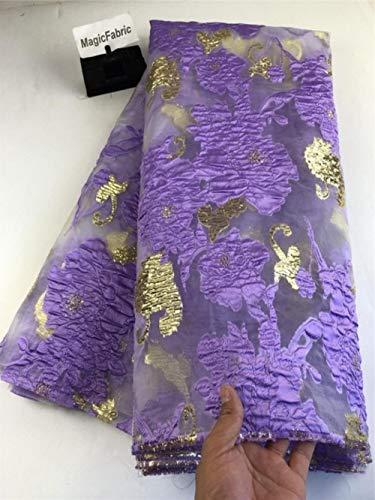 Nieuwe Afrikaanse Franse mesh kant stof Nigeriaanse netto organza kant stof borduurwerk kant voor feestjurk COP-006, Gun Metal