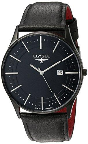Elysee Diomedes II Herren-Armbanduhr mit hochwertigem Marken-Quarzwerk Lederarmband oder Milanaisearmband