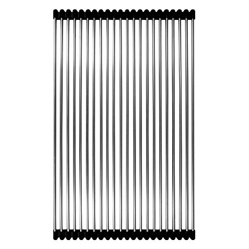 Rolling Grid for Kitchen Sinks in Stainless Steel and Black