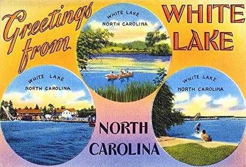 Greetings from White Lake North Pos Vintage Excellent - Carolina 1930's Regular dealer
