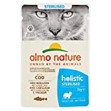 Almo Nature Complete Wet Food for Cats Sterilised with Cod, 70 g