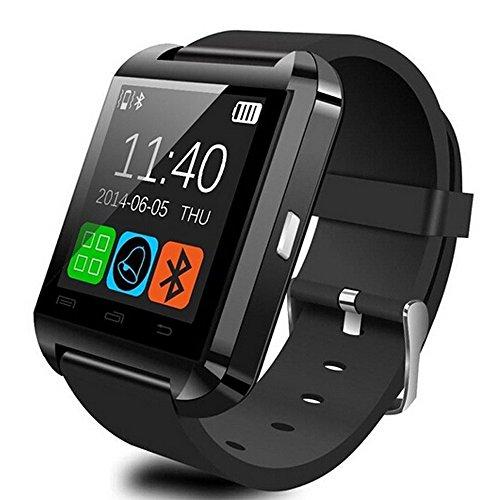 GroMate U8 Smartwatch Bluetooth Fitness Smart Uhr Watch with Touch Screen Hands Free hände frei Höhenmesser für Smartphones Android Samsung S2/S3/S4/Note 2/Note 3 HTC LG Huawei Schwarz